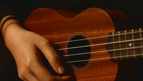 Close up ukulele guitar. stock footage