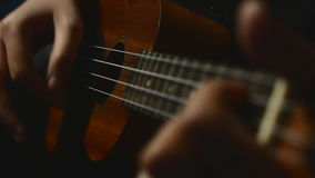 Close up ukulele guitar. stock video footage
