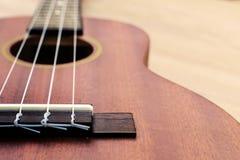 Close up of ukulele Royalty Free Stock Photography