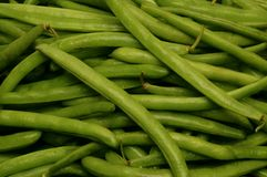Close-up of uncut string beans Royalty Free Stock Photography