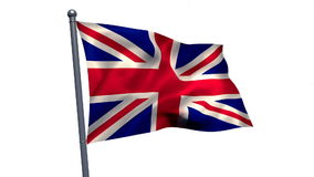 Union flag waving against white background. Close-up of union flag waving against white background stock video footage