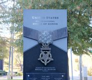 Close-Up of United States Congressional Medal of Honor Tribute, Jackson, Mississippi Stock Photography