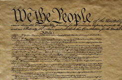 Close-up of the United States Constitution Stock Images