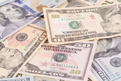 Close up of united states dollar banknotes. Stock Photography