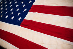 Close-up of United States Flag royalty free stock photos