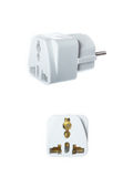 Close up universal American to European travel adapter converter Royalty Free Stock Images