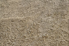 Close up of unsifted natural dirt with small stones Royalty Free Stock Images