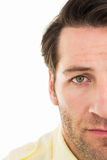 Close up of unsmiling man Royalty Free Stock Images