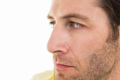 Close up of unsmiling man Royalty Free Stock Photography