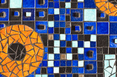 Close up up of a ceramic mosaic Royalty Free Stock Photo