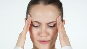 Close Up of Upset Tense Woman Face, Headache. 4k  high quality stock video