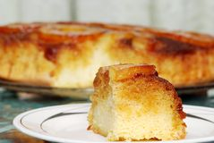 Close up upside down pineapple cake Royalty Free Stock Photos
