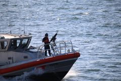 Close up of US Coast guard Stock Images