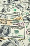 Close up of US dollar bills Royalty Free Stock Images