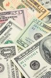 Close up of US dollar bills Royalty Free Stock Photography
