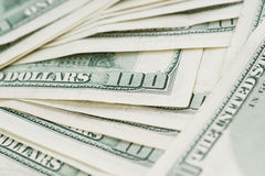 Close up 100 US Dollar Bills Stock Photos
