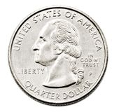 Close-Up Of Us Quarter Dollar royalty free stock image