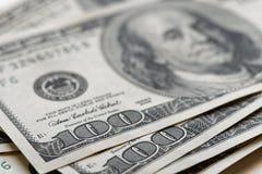 Closeup 100 usa dollars banknotes. Close up 100 usa dollars banknotes Royalty Free Stock Photo