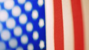 Close-up USA Flag. stock footage