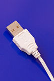 Close-up of a USB connection cable Royalty Free Stock Photo