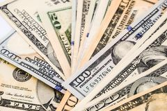 Close up of USD money  background. Finance concept Stock Photography