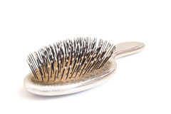 Close-up of an used hairbrush Royalty Free Stock Images