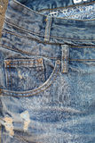 Close up of a used jeans Stock Photography