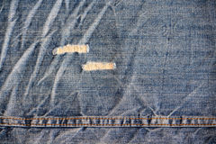Close up of a used jeans Royalty Free Stock Photography