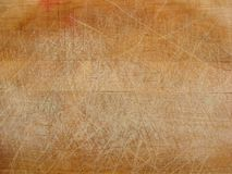 Close up of used wooden chopping board Royalty Free Stock Image