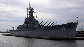 Close up of USS Alabama Battleship   ALABAMA OCTOBER 16, 2013. Close up of USS Alabama Battleship   ALABAMA/USA OCTOBER 16, 2013 stock video footage