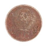 Close up of ussr coin. Royalty Free Stock Images