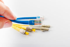 Close up of  UTP LAN cable Royalty Free Stock Photos
