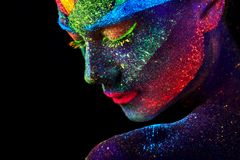 Free Close Up UV Abstract Portrait Stock Photo - 130249610