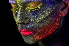 Close up UV abstract portrait stock photo