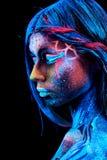 Close up UV portrait stock images