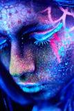 Close up UV portrait Stock Image