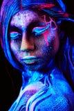 Close up UV portrait Stock Photography