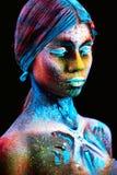 Close up UV portrait stock photo