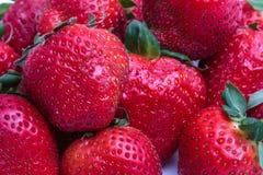Close-up van aardbeien royalty-vrije stock afbeeldingen