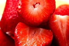 Close-up van aardbeien royalty-vrije stock afbeelding