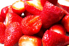 Close-up van aardbeien royalty-vrije stock fotografie