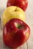 Close-up van appelen Stock Afbeeldingen