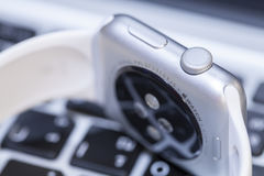 Close-up van Apple-Horloge Stock Foto's
