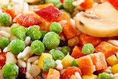 Close-up van bevroren groenten Stock Afbeeldingen