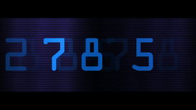 Close-up van blauwe digitale aantallen stock illustratie