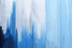 Close-up van blauwe geschilderde metaaloppervlakte stock afbeelding