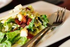 Close-up van Caesar-salade Stock Afbeeldingen