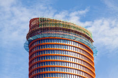 Close-up van Cajasol-Toren Stock Fotografie