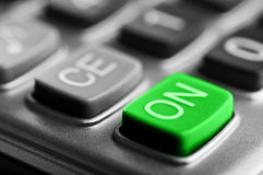 Close-up van calculatorknoop Royalty-vrije Stock Fotografie
