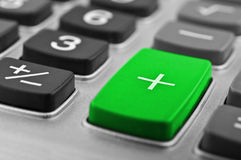 Close-up van calculatorknoop Royalty-vrije Stock Foto